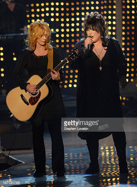 Nancy Wilson and Ann Wilson of Heart during 2007 VH1 Rock Honors Show at Mandalay Bay in Las Vegas Nevada United States