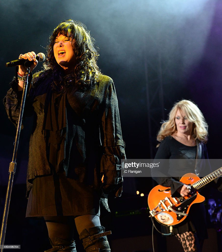Nancy Wilson and Ann Wilson of Heart perform during the 2014 Bottlerock Music Festival on May 31, 2014 in Napa, California.