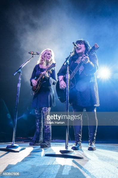 Nancy Wilson and Ann Wilson of Heart perform live at the Canadian Tire Centre on June 18 2014 in Kanata Canada