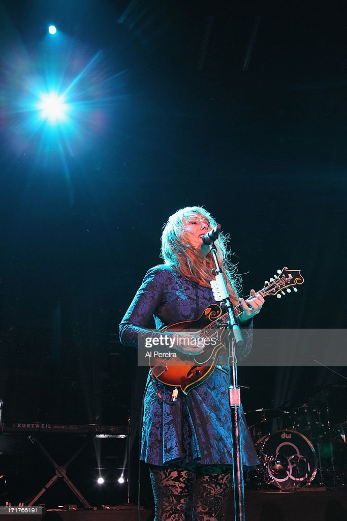 Nancy Wilson and Heart performs during the Heartbreaker Tour at Nikon at Jones Beach Theater on June 27, 2013 in Wantagh, New York.