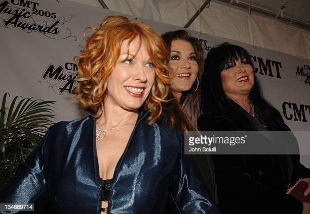 Nancy Wilson Gretchen Wilson and Ann Wilson during 2005 CMT Music Awards Arrivals at Gaylord Entertainment Center in Nashville Tennessee United States
