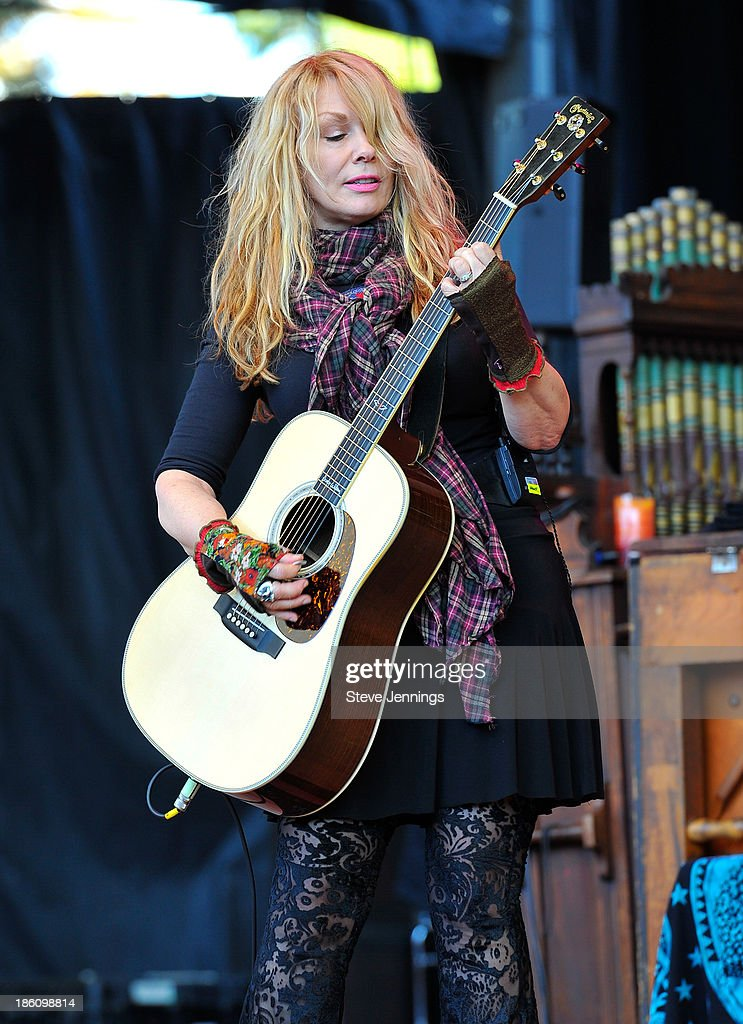 Nancy Wilson of Heart performs on Day 2 of the 27th Annual Bridge School Benefit concert at Shoreline Amphitheatre on October 27, 2013 in Mountain View, California.