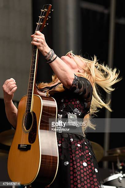 Nancy Wilson of Heart performs onstage during the Foo Fighters 20th Anniversary Blowout at RFK Stadium on July 4 2015 in Washington DC