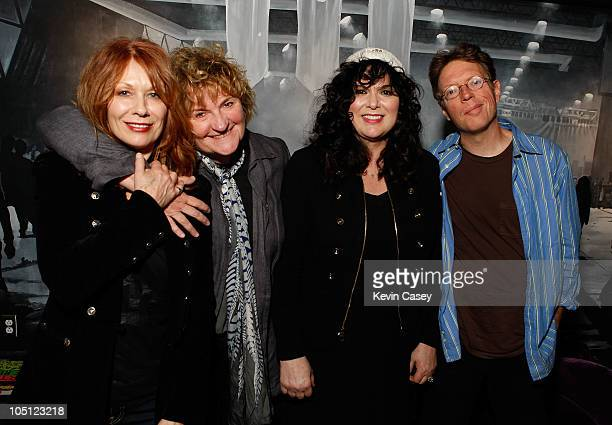 Nancy Wilson of Heart Sue Ennis Ann Wilson of Heart and Charles Cross attend The Recording Academy Pacific Northwest Chapter's Grammy MusicTech...