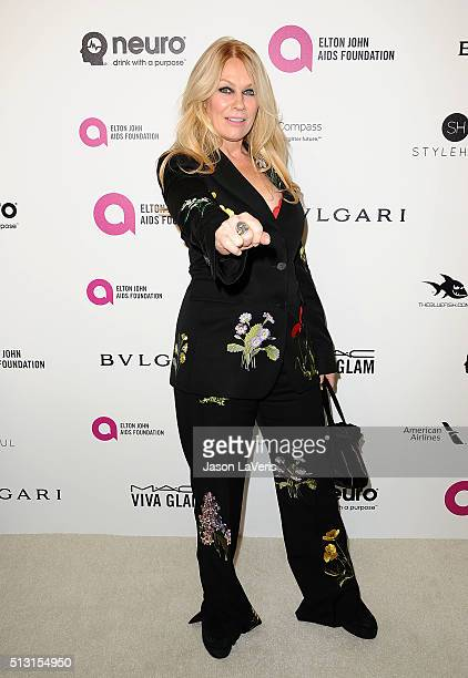 Nancy Wilson of the band Heart attends the 24th annual Elton John AIDS Foundation's Oscar viewing party on February 28 2016 in West Hollywood...