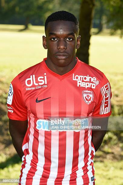 Nancy's French defender Faitout Maouassa poses for the ligue 1 20162017 football season official portrait on August 25 2016 in VelaineenHaye eastern...