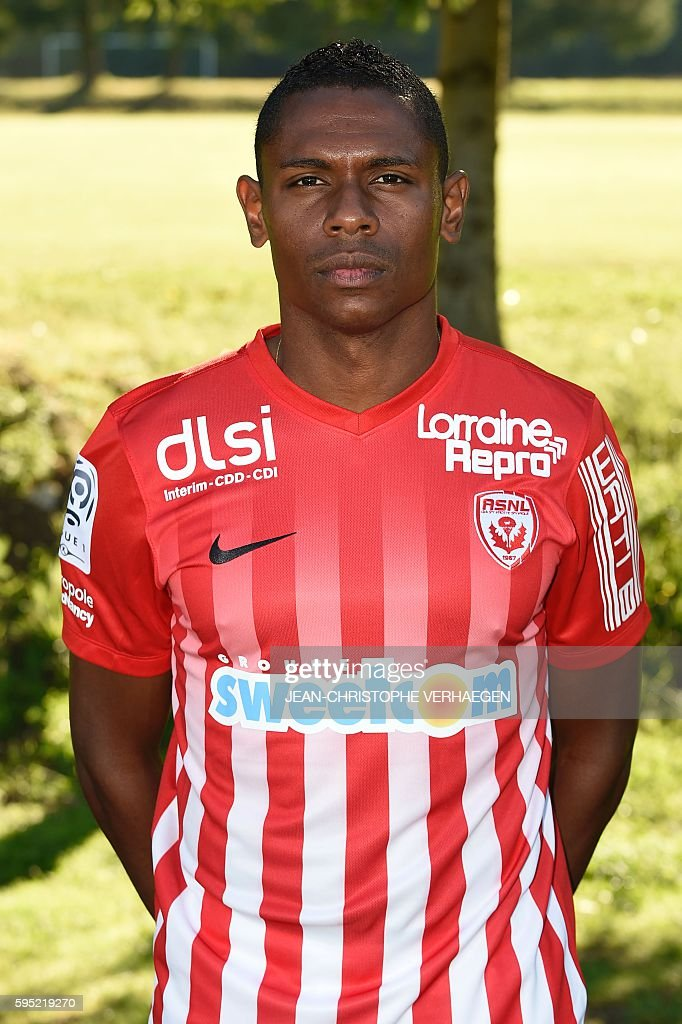 Nancy's French forward Christophe Mandanne poses during the presentation of the 20162017 season's team on August 25 2016 in VelaineenHaye eastern...