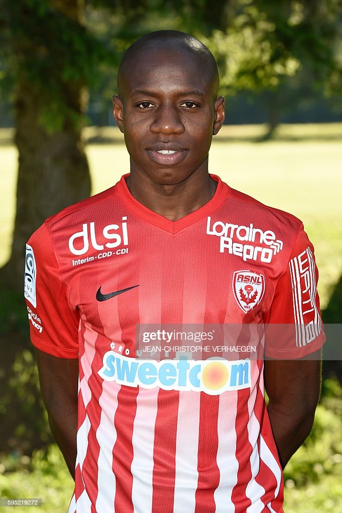 Nancy's French forward Junior Dale poses during the presentation of the 20162017 season's team on August 25 2016 in VelaineenHaye eastern France /...