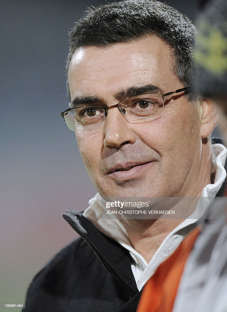 Nancy's French interim head coach Patrick Gabriel looks on before the French L1 football match between Nancy (ASNL) and Lille (LOSC) at the Marcel Picot stadium, on January 12, 2013, in Tomblaine. AFP PHOTO / JEAN-CHRISTOPHE VERHAEGEN