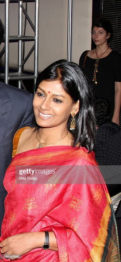 Nandita Das during a function in Mumbai where Aishwarya Rai Bachchan was conferred with the French civilian award, Officer Dan Ordre Arts et des Lettres on 1st November, 2012.