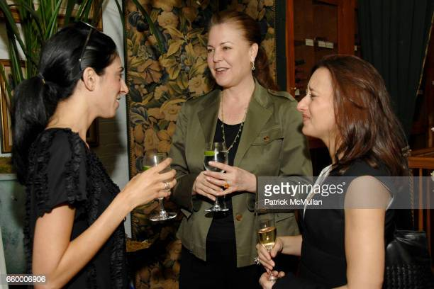 Nandita Khanna Deborah Eaton and Elizabeth Hospodar attend CHANTELLE 60th ANNIVERSARY LUNCHEON at Le Grenouille on May 15 2009 in New York City
