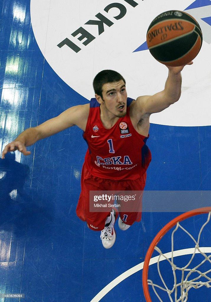 Nando De Colo #1 of CSKA Moscow during the Turkish Airlines Euroleague Basketball Regular Season Date 1 game CSKA Moscow v Maccabi Tel Aviv at USH...
