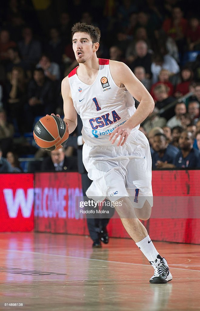 Nando De Colo #1 of CSKA Moscow in action during the 20152016 Turkish Airlines Euroleague Basketball Top 16 Round 10 game between FC Barcelona Lassa...