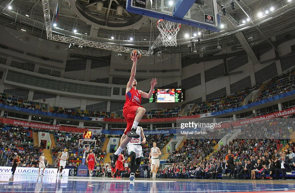 Nando De Colo #1 of CSKA Moscow in action during the 20152016 Turkish Airlines Euroleague Basketball Top 16 Round 13 game between CSKA Moscow v...