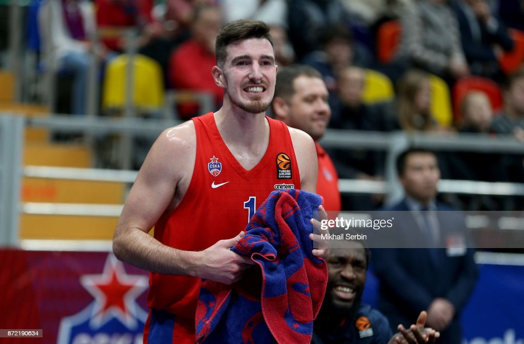 Nando de Colo, #1 of CSKA Moscow in action during the 2017/2018 Turkish Airlines EuroLeague Regular Season Round 6 game between CSKA Moscow and Valencia Basket at Megasport Arena on November 9, 2017 in Moscow, Russia.