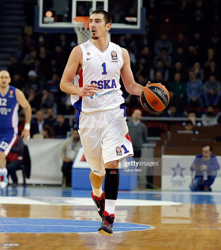 Nando De Colo #1 of CSKA Moscow in action during the Euroleague Basketball Top 16 Date 3 game between Anadolu Efes Istanbul v CSKA Moscow at Abdi...