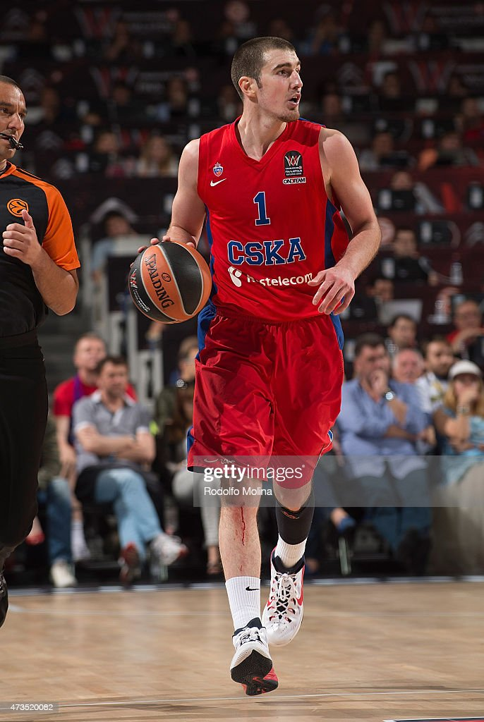 Nando De Colo #1 of CSKA Moscow in action during the Turkish Airlines Euroleague Final Four Madrid 2015 Semifinal B game between CSKA Moscow vs...