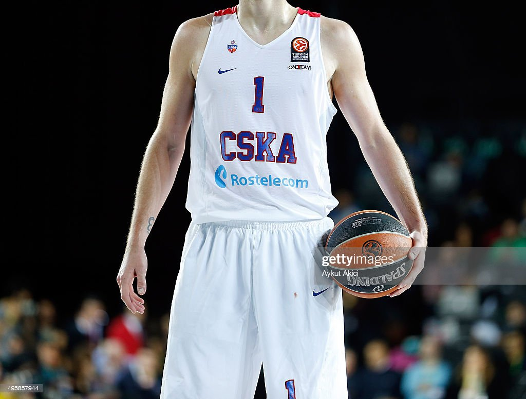 Nando De Colo #1 of CSKA Moscow in action during the Turkish Airlines Euroleague Basketball Regular Season date 4 game between Darussafaka Dogus...