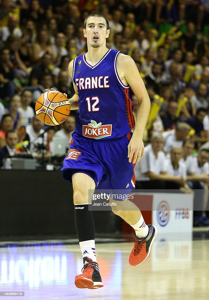 Nando De Colo of France in action during the international friendly basketball match between France and Russia in preparation of Euro Basket 2015 at...