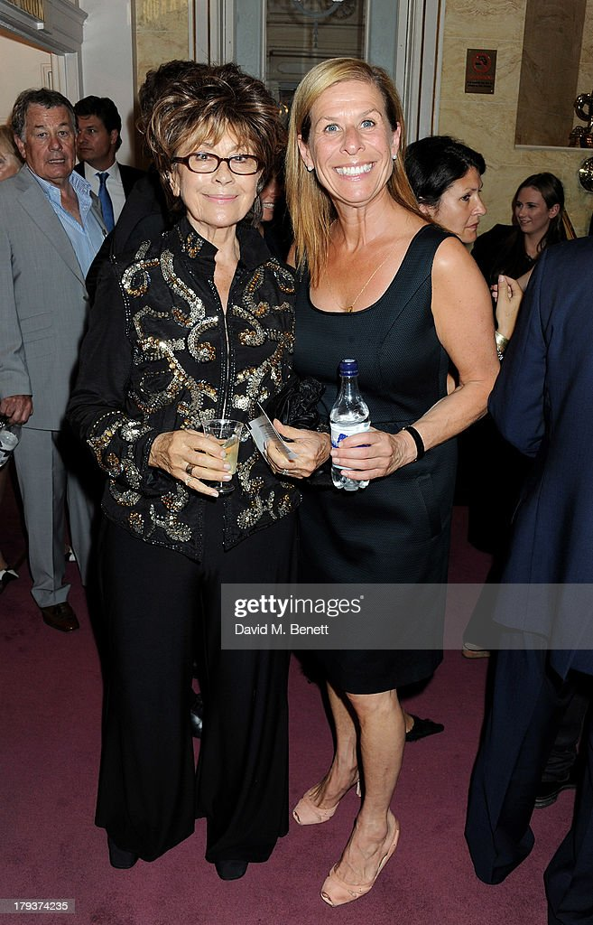 Nanette Newman (L) and Jo Levin attend as Sir Elton John is awarded the first annual 'BRITS Icon' award at the London Palladium on September 2, 2013 in London, England.