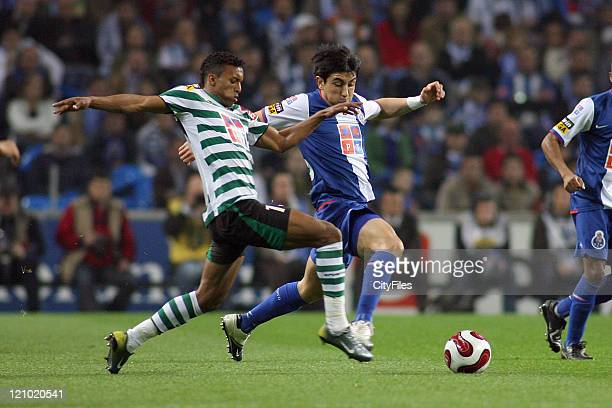 Nani and Fucile during a Portuguese League match between FC Porto and Sporting Lisbon in Porto Portugal on March 17 2007