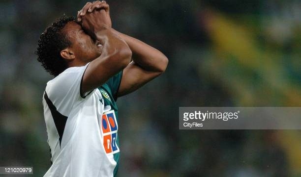 Nani during the Portuguese Cup Semi Final match in Lisbon Portugal on April 18 2007