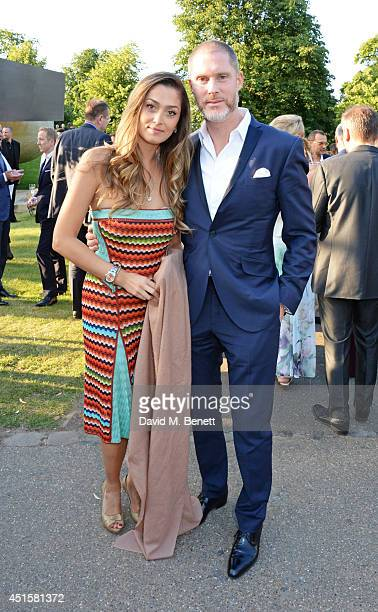 Nani Malat and Jean David Malat attend The Serpentine Gallery Summer Party cohosted by Brioni at The Serpentine Gallery on July 1 2014 in London...