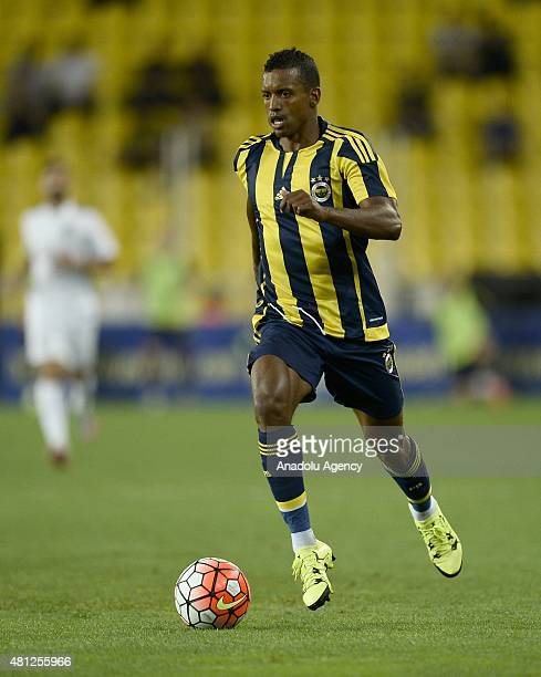 Nani of Fenerbahce in action during the practice match between Fenerbahce and Vitoria Guimaraes at the Sukru Saracoglu Stadium in Istanbul Turkey on...