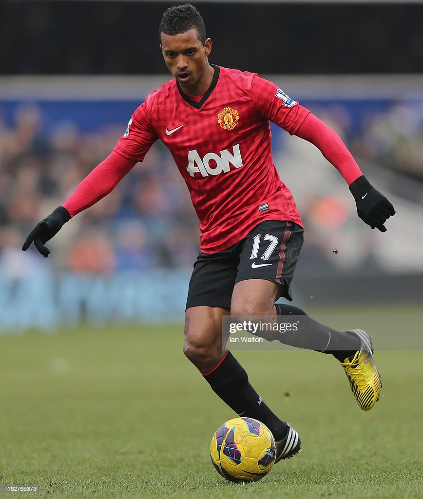 Nani of Manchester United during the Barclays Premier League match between Queens Park Rangers and Manchester United at Loftus Road on February 23, 2013 in London, England.