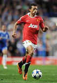 Nani of Manchester United during the UEFA Champions League Quarter Final match between Chelsea and Manchester United at Stamford Bridge in London UK...