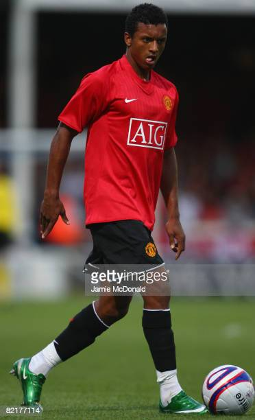 Nani of Manchester United in action of Peterbrough during the preseason friendly match between Peterborough United and Manchester United at London...