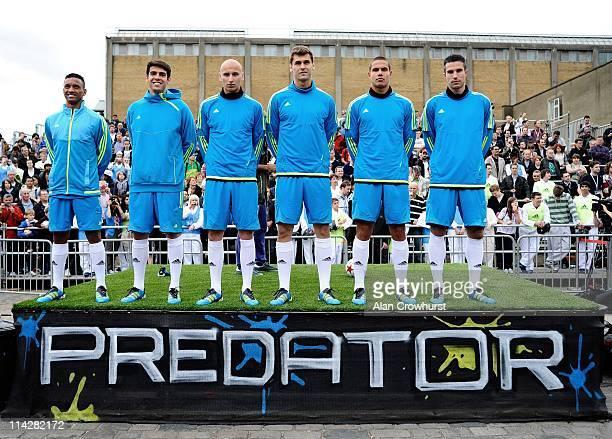 Nani of Manchester United Kaka of Real Madrid Jonjo Shelvey of Liverpool Fernando Llorente of Atheltic Bilbao Jack Rodwell of Everton Jack Rodwell of...