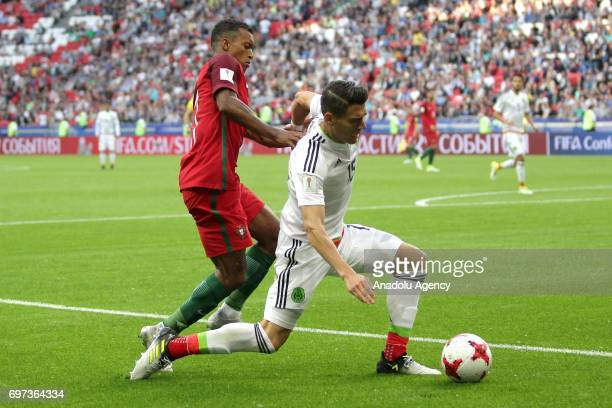 Nani of Portugal in action against Hector Moreno of Mexico during the FIFA Confederations Cup 2017 group A soccer match between Portugal and Mexico...