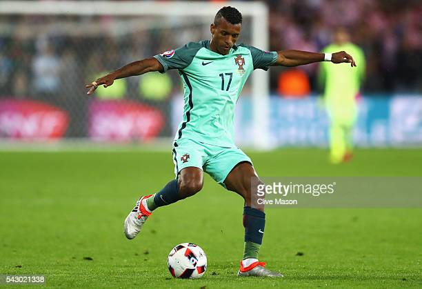 Nani of Portugal in action during the UEFA EURO 2016 round of 16 match between Croatia and Portugal at Stade BollaertDelelis on June 25 2016 in Lens...