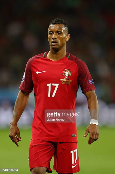 Nani of Portugal looks on during the UEFA EURO 2016 Group F match between Portugal and Iceland at Stade GeoffroyGuichard on June 14 2016 in...