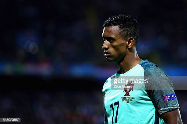 Nani of Portugal looks on during the UEFA EURO 2016 round of 16 match between Croatia and Portugal at Stade BollaertDelelis on June 25 2016 in Lens...