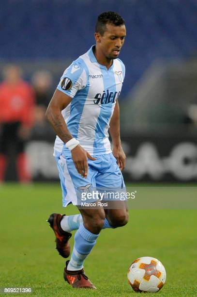 Nani of SS Lazio during the UEFA Europa League group K match between Lazio Roma and OGC Nice at Stadio Olimpico on November 2 2017 in Rome Italy