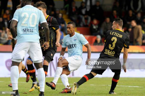 Nani of SS Lazio scotres a fifth goal during the Serie A match between Benevento Calcio and SS Lazio at Stadio Ciro Vigorito on October 29 2017 in...