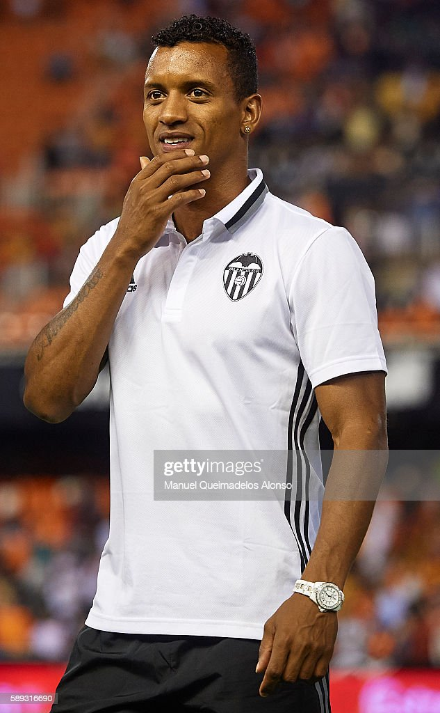 Nani of Valencia looks on after the preseason friendly match between Valencia CF and AC Fiorentina at Estadio Mestalla on August 13 2016 in Valencia...