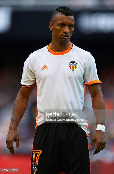 Nani of Valencia looks on prior to the La Liga match between Valencia CF and Granada CF at Mestalla Stadium on November 20 2016 in Valencia Spain