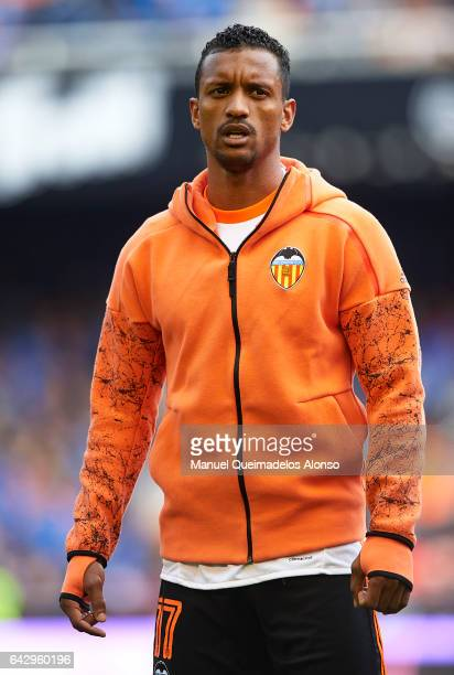 Nani of Valencia looks on prior to the La Liga match between Valencia CF and Athletic Club at Mestalla Stadium on February 19 2017 in Valencia Spain