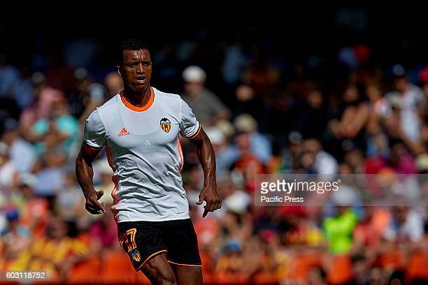 Nani Portuguese forward of Valencia CF looks on during the La Liga game between Valencia CF and Real Betis at Mestalla stadium Game ends Valencia CF...