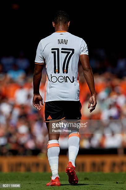 Nani Portuguese forward of Valencia CF walks away during the La Liga game between Valencia CF and Real Betis at Mestalla stadium Game ends Valencia...