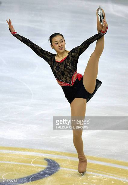 Japan's Mai Asada skates during the Ladies Short Program at the Cup of China Grand Prix of Figure Skating in Nanjing 09 November 2006in eastern...