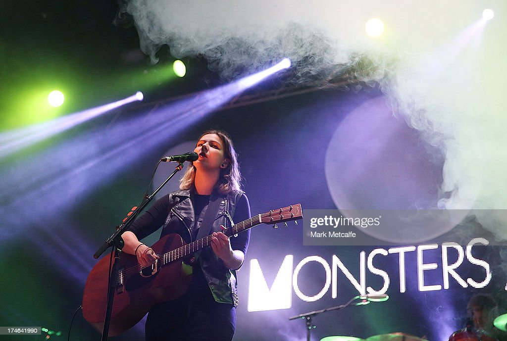 Nanna Bryndis Hilmarsdottir of Of Monsters and Men performs for fans on day 3 of the 2013 Splendour In The Grass Festival on July 28, 2013 in Byron Bay, Australia.