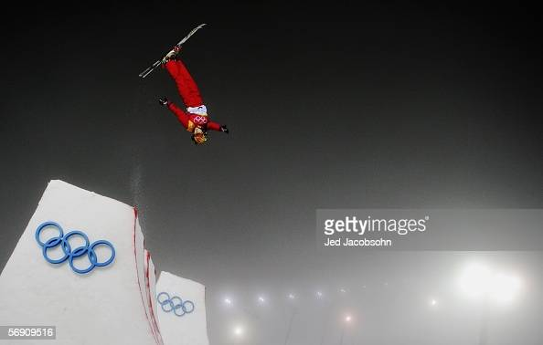Nannan Xu of China competes in the Womens Freestyle Skiing Aerials Final on Day 12 of the 2006 Turin Winter Olympic Games on February 22 2006 in...