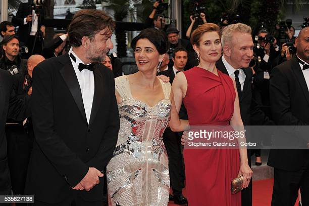Nanni Moretti Hiam Abass Emmanuelle Devos and JeanPaul Gaultier at the Closing Ceremony and the premiere for 'Therese Desqueyroux' during the 65th...