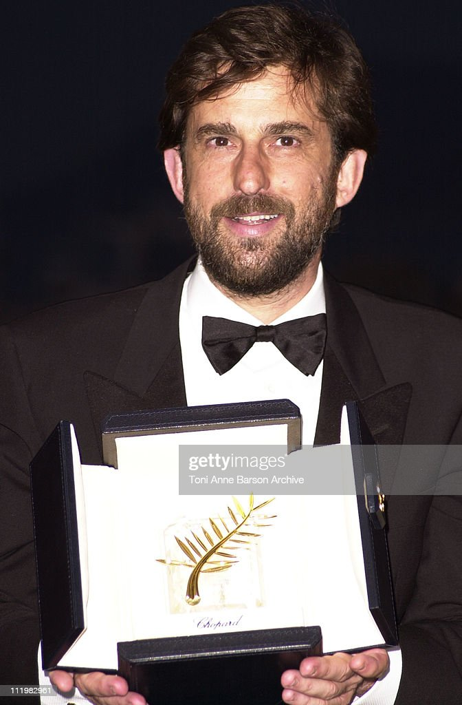 Nanni Moretti - Palme D'Or during Cannes 2001 - Awards at Palais des Festivals in Cannes, France.