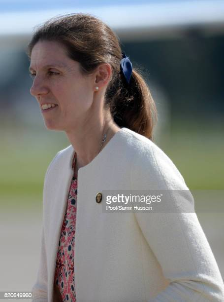 Nanny Maria Borrallo depart from Hamburg airport on the last day of their official visit to Poland and Germany on July 21 2017 in Hamburg Germany