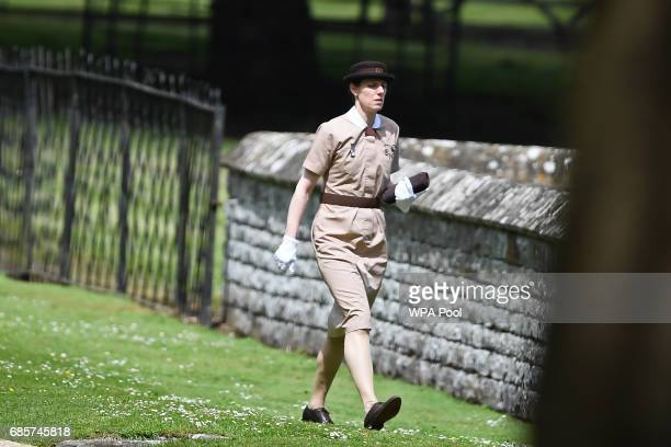 Nanny to Prince George and Princess Charlotte of Cambridge Maria Borrallo attends the wedding of Pippa Middleton and James Matthews at St Mark's...